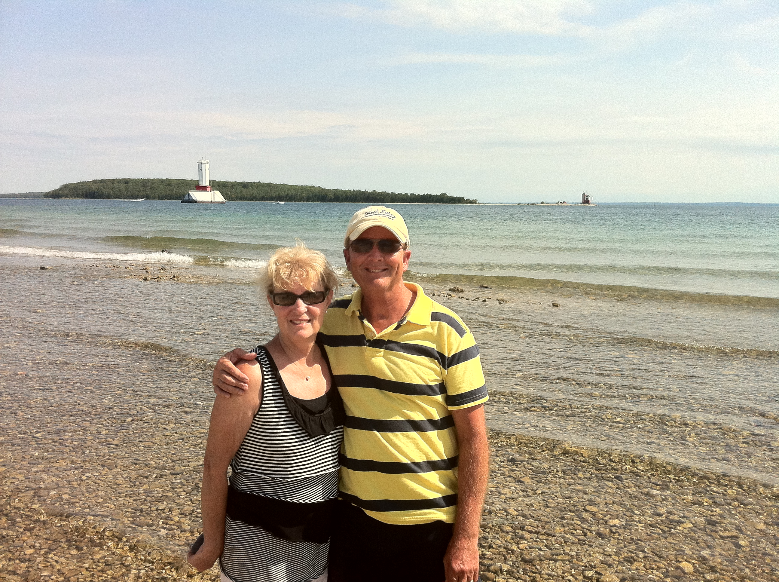 John & Sally on shore at Mackinac Isl 7.23.11-1